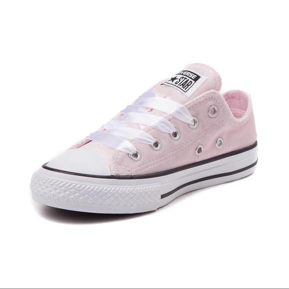 Converse Shoes | Pink Velvet Converse
